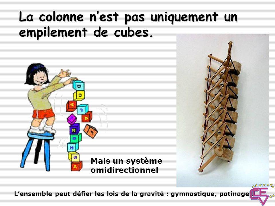 La colonne n'est pas uniquement un empilement de cubes.