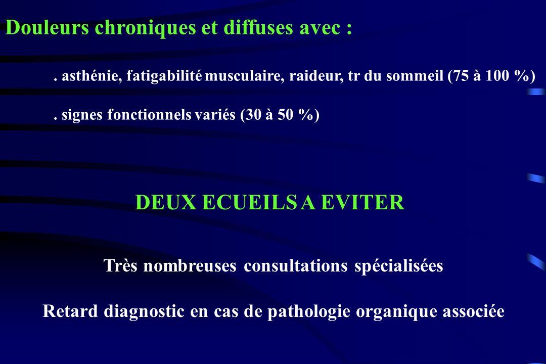 Douleurs chroniques et diffuses avec :
