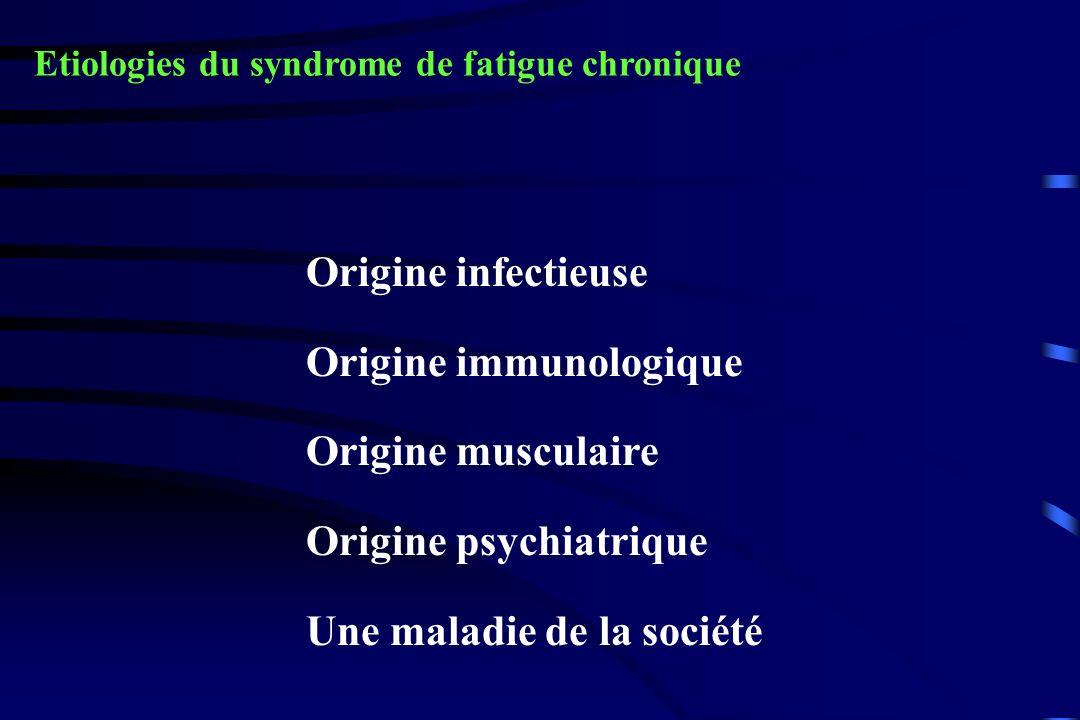 Origine immunologique Origine musculaire Origine psychiatrique
