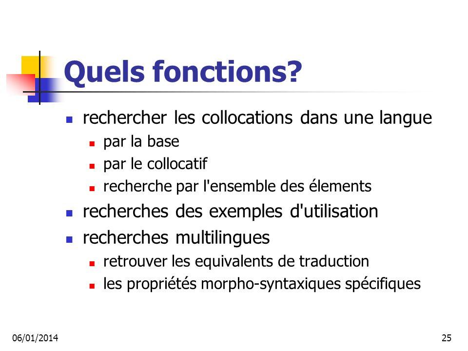 Quels fonctions rechercher les collocations dans une langue