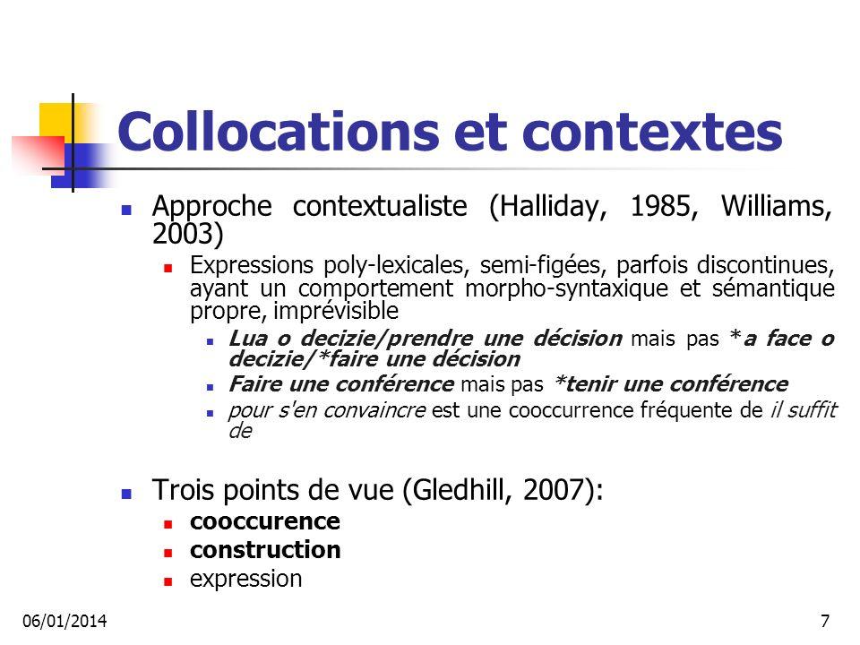 Collocations et contextes