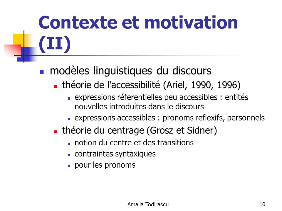 Contexte et motivation (II)