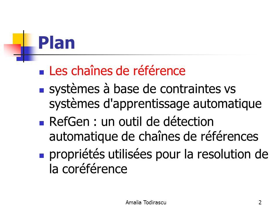 Plan Les chaînes de référence