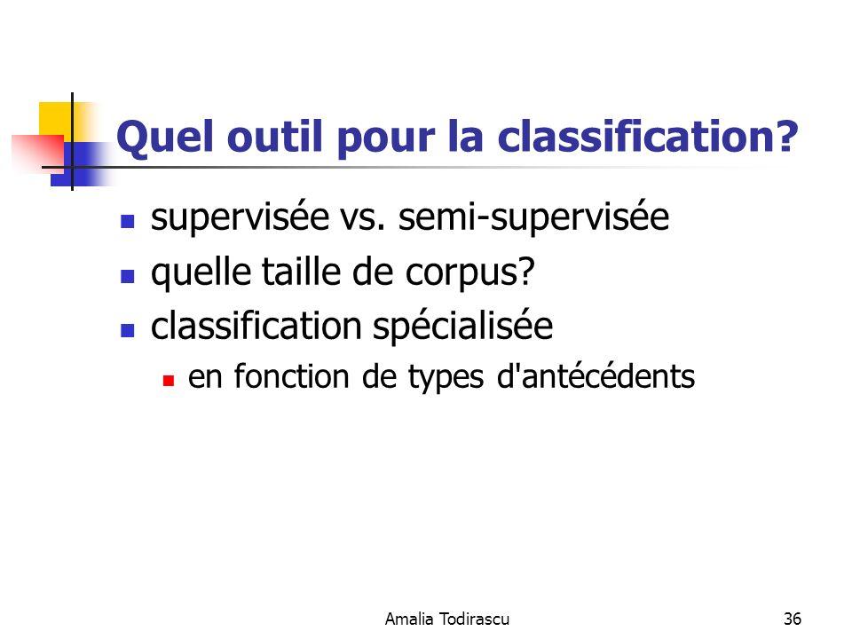 Quel outil pour la classification