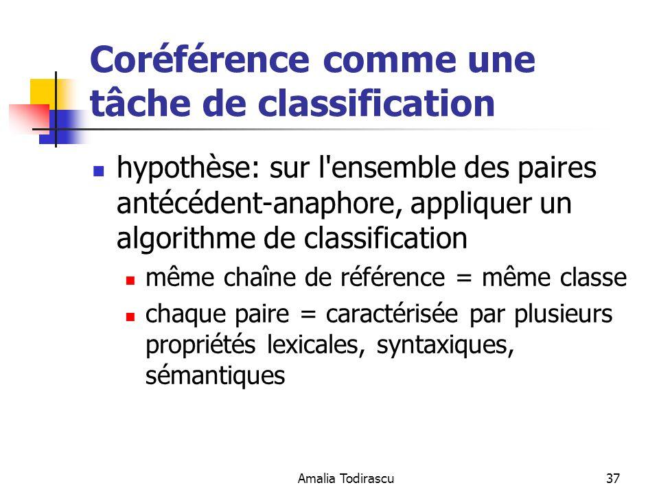 Coréférence comme une tâche de classification