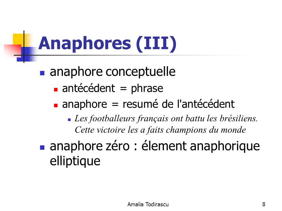 Anaphores (III) anaphore conceptuelle