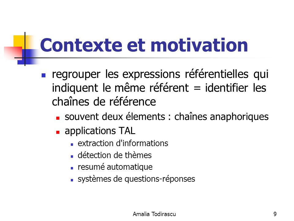 Contexte et motivation