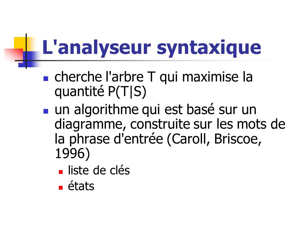 L analyseur syntaxique