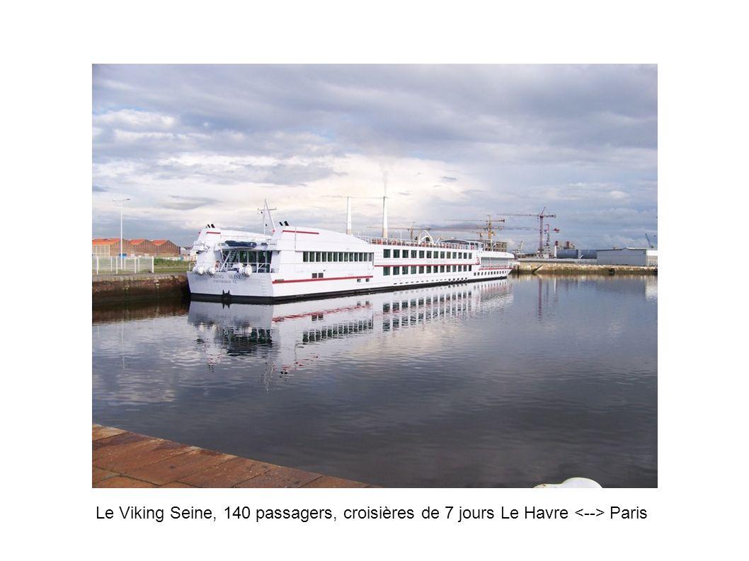 Le Viking Seine, 140 passagers, croisières de 7 jours Le Havre <--> Paris