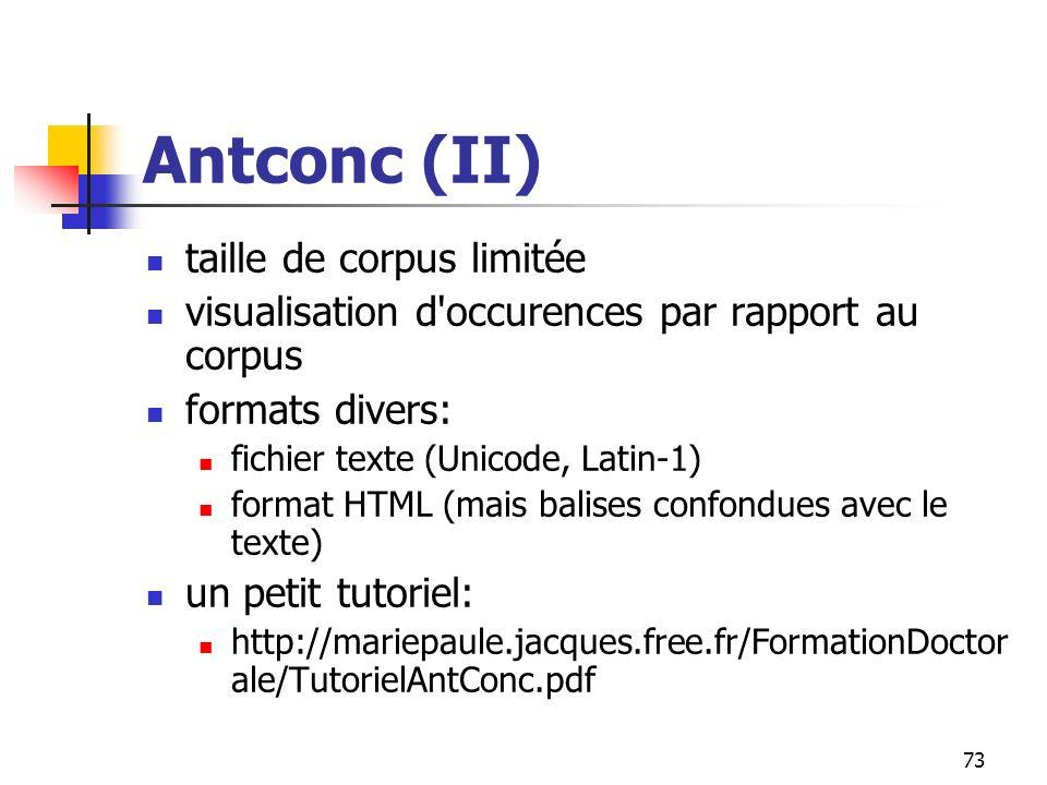 Antconc (II) taille de corpus limitée