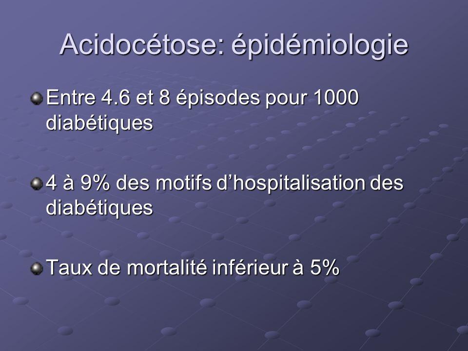 Acidocétose: épidémiologie