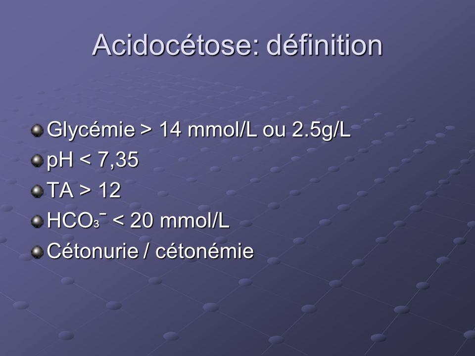 Acidocétose: définition
