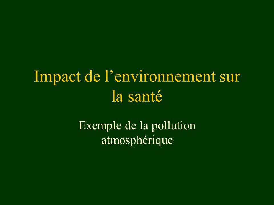 Impact de l'environnement sur la santé