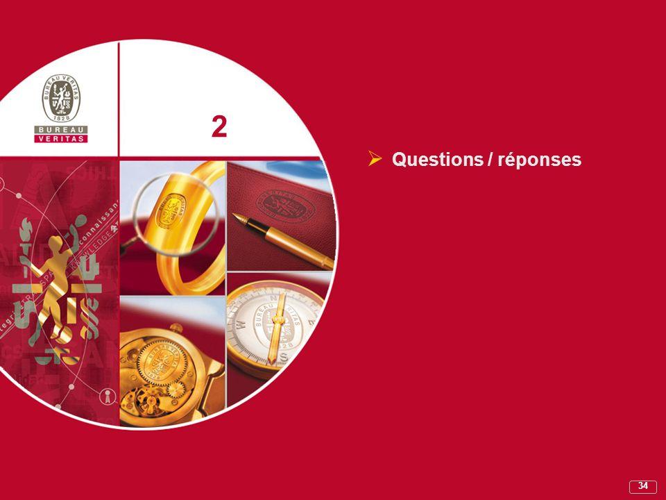 2 Questions / réponses