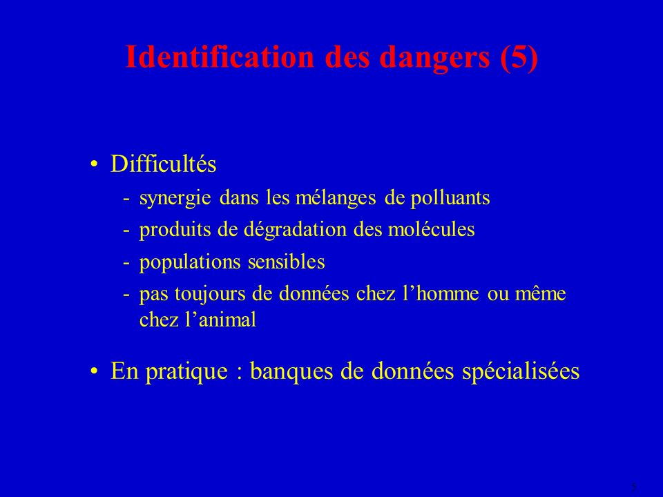 Identification des dangers (5)