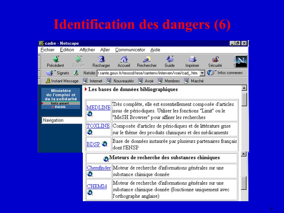 Identification des dangers (6)