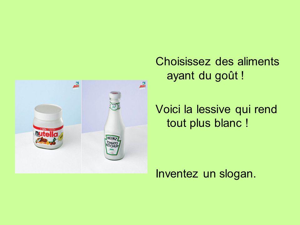 Choisissez des aliments ayant du goût !