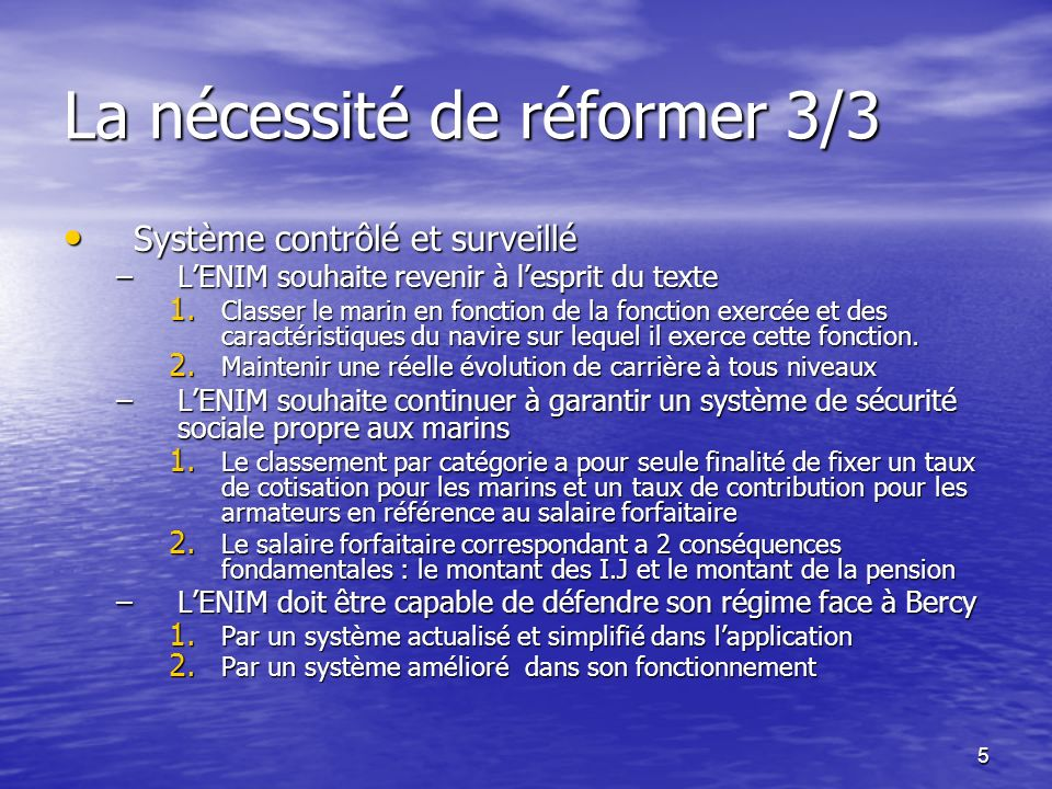 La nécessité de réformer 3/3