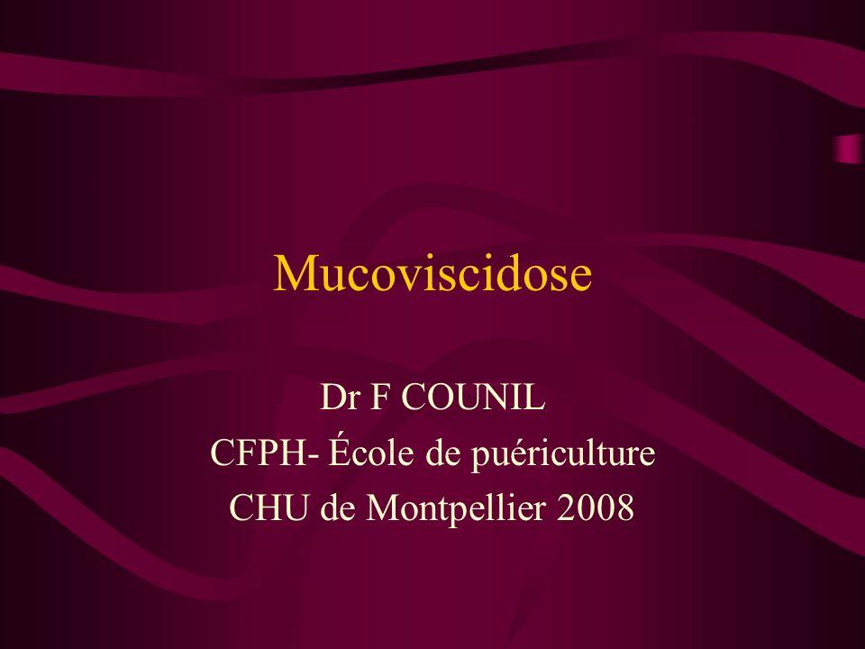 Dr F COUNIL CFPH- École de puériculture CHU de Montpellier 2008