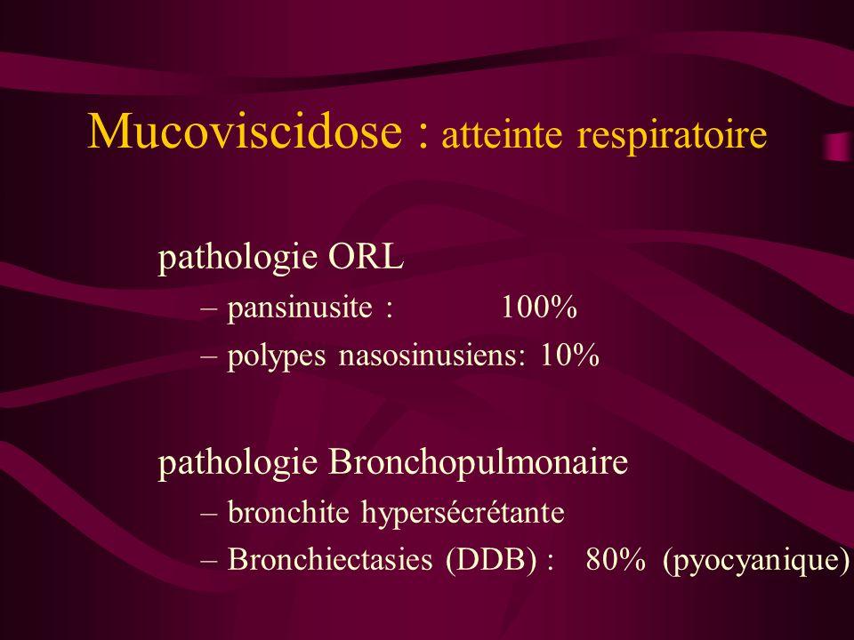 Mucoviscidose : atteinte respiratoire