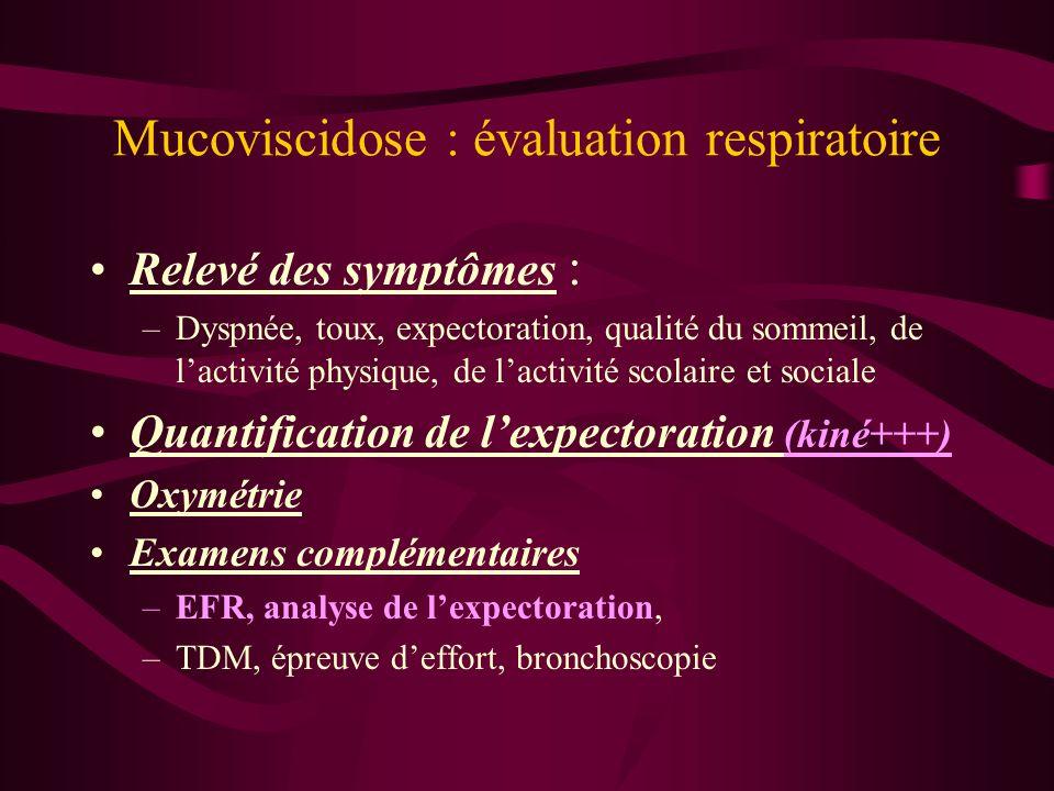 Mucoviscidose : évaluation respiratoire