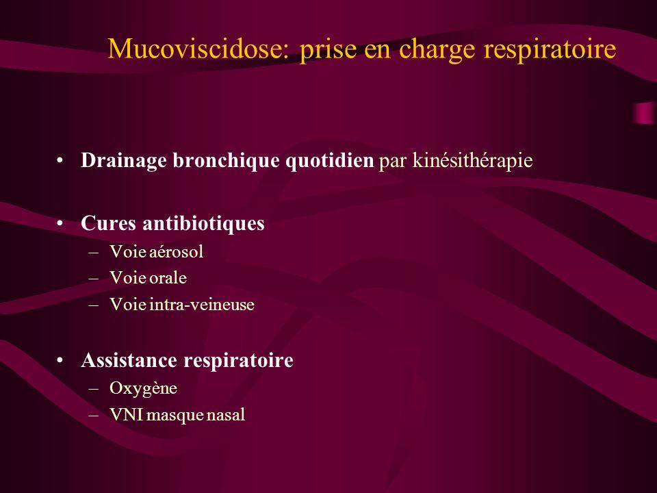 Mucoviscidose: prise en charge respiratoire