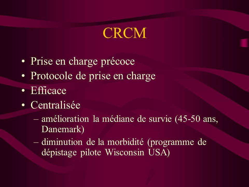 CRCM Prise en charge précoce Protocole de prise en charge Efficace
