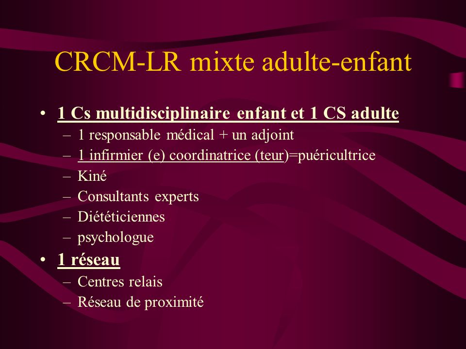 CRCM-LR mixte adulte-enfant