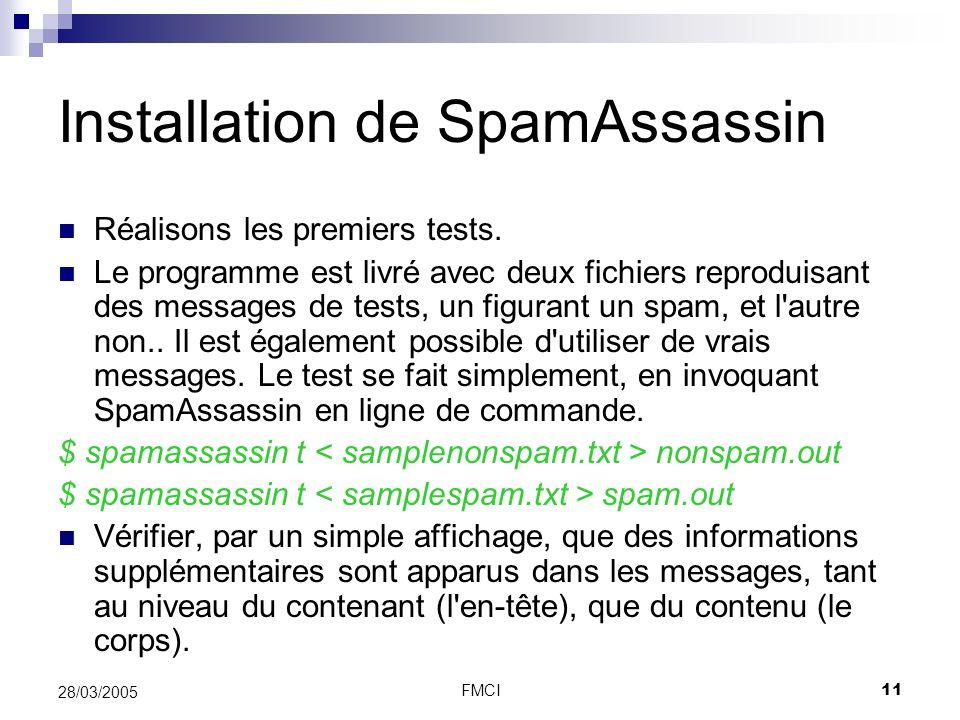 Installation de SpamAssassin