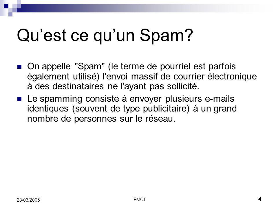 Qu'est ce qu'un Spam