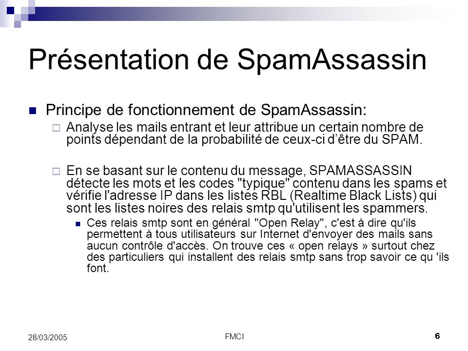 Présentation de SpamAssassin