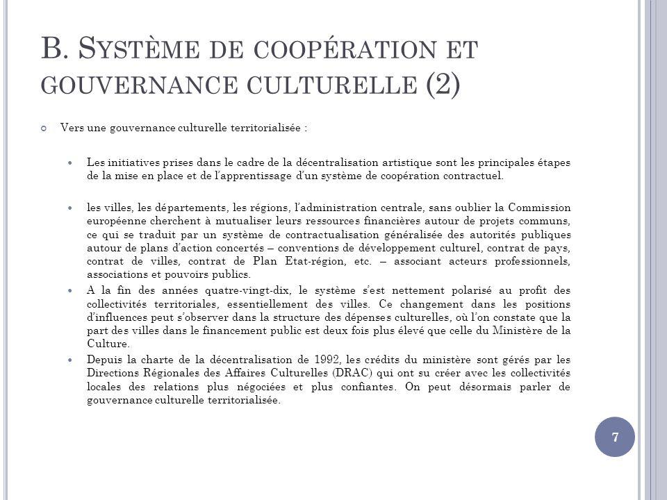 B. Système de coopération et gouvernance culturelle (2)