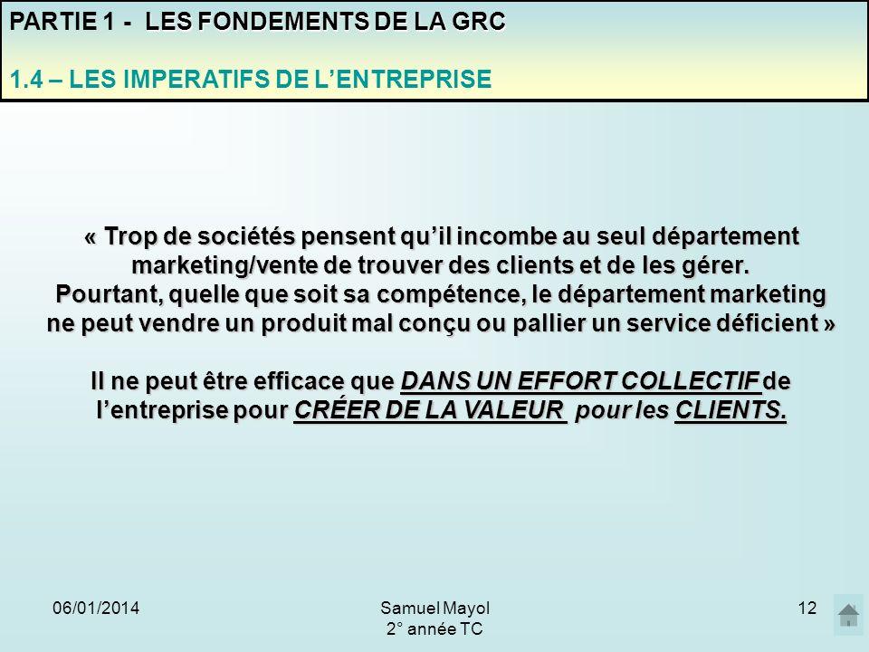 PARTIE 1 - LES FONDEMENTS DE LA GRC