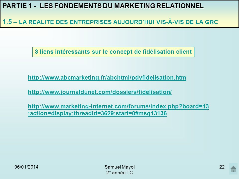 PARTIE 1 - LES FONDEMENTS DU MARKETING RELATIONNEL