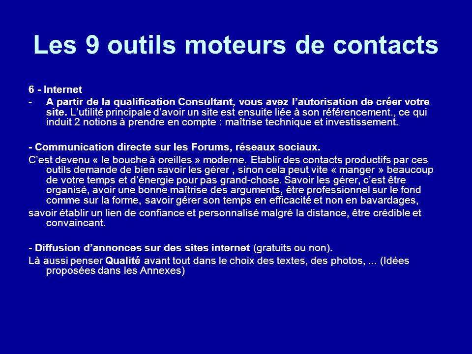 Les 9 outils moteurs de contacts
