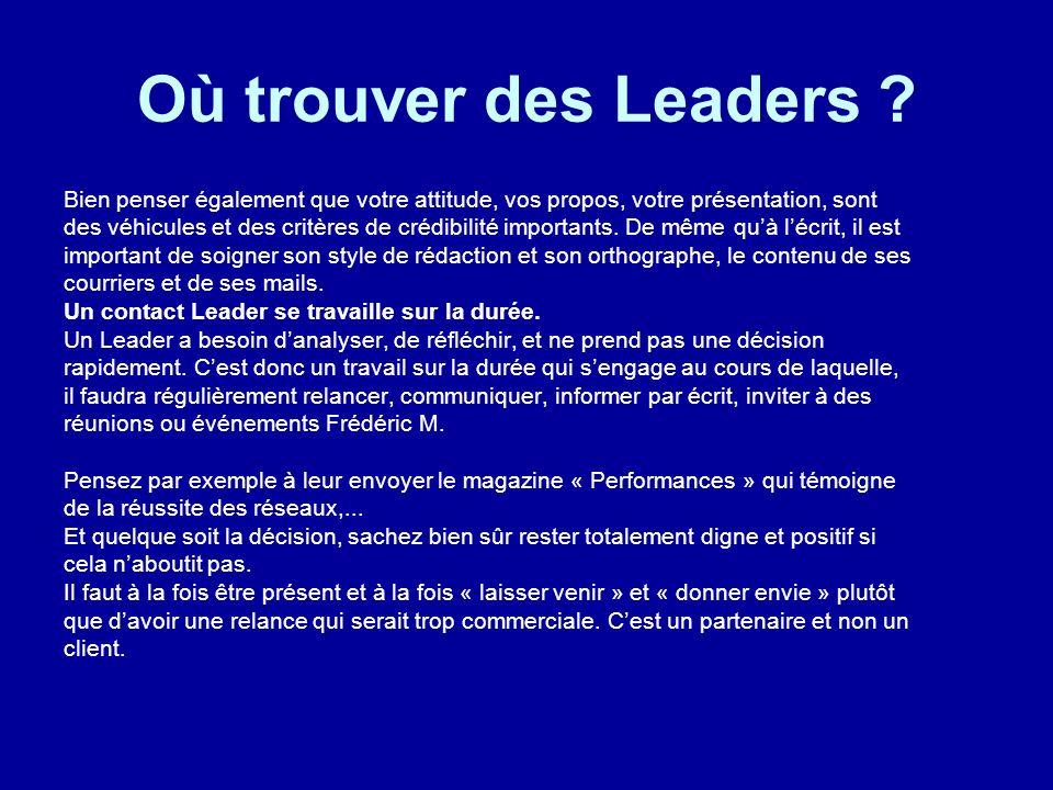 Où trouver des Leaders Bien penser également que votre attitude, vos propos, votre présentation, sont.