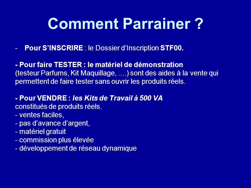 Comment Parrainer Pour S'INSCRIRE : le Dossier d'Inscription STF00.