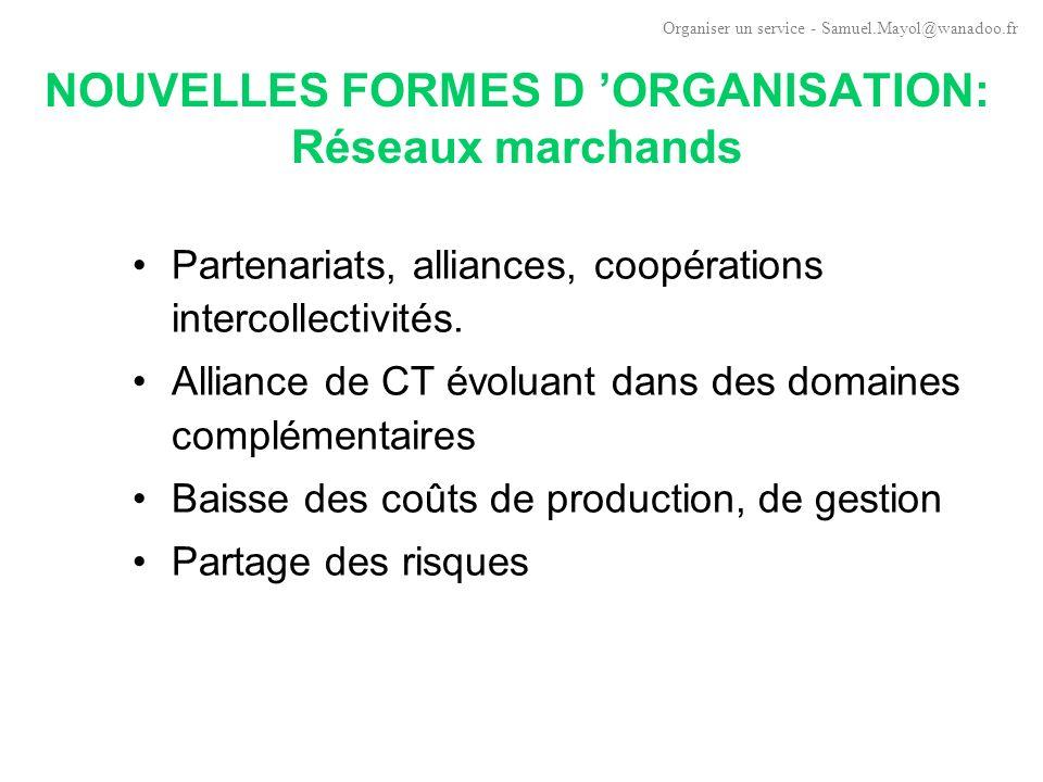 NOUVELLES FORMES D 'ORGANISATION: Réseaux marchands