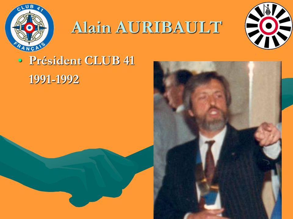 Alain AURIBAULT Président CLUB 41 1991-1992