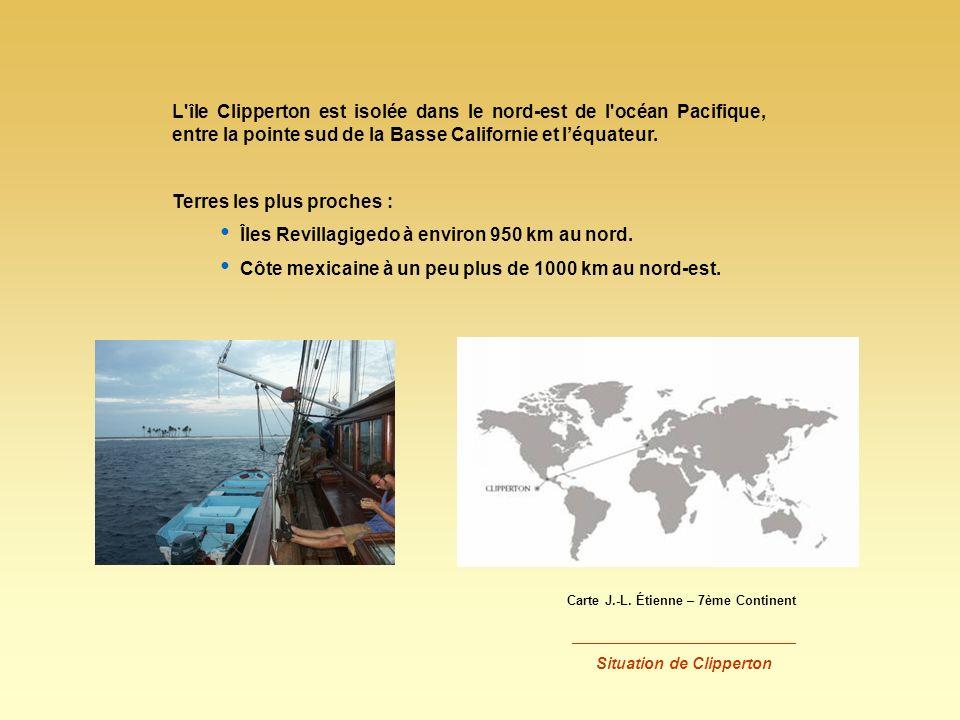 Terres les plus proches : Îles Revillagigedo à environ 950 km au nord.