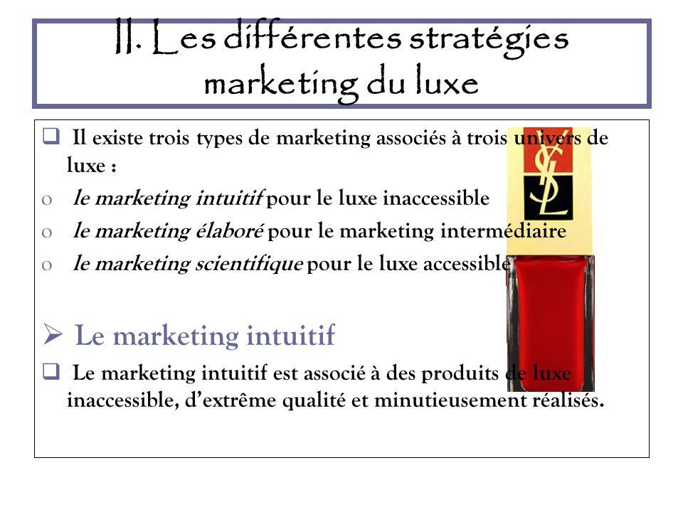 II. Les différentes stratégies marketing du luxe