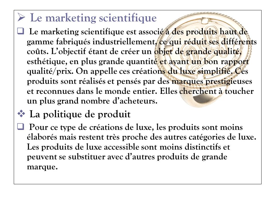 Le marketing scientifique
