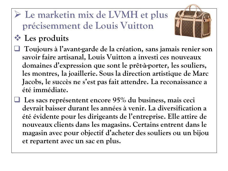 Le marketin mix de LVMH et plus précisemment de Louis Vuitton