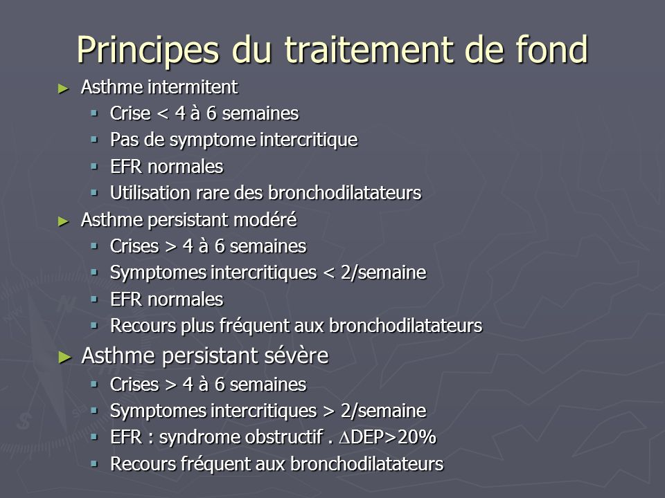Principes du traitement de fond