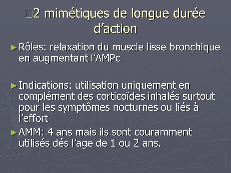 Β2 mimétiques de longue durée d'action