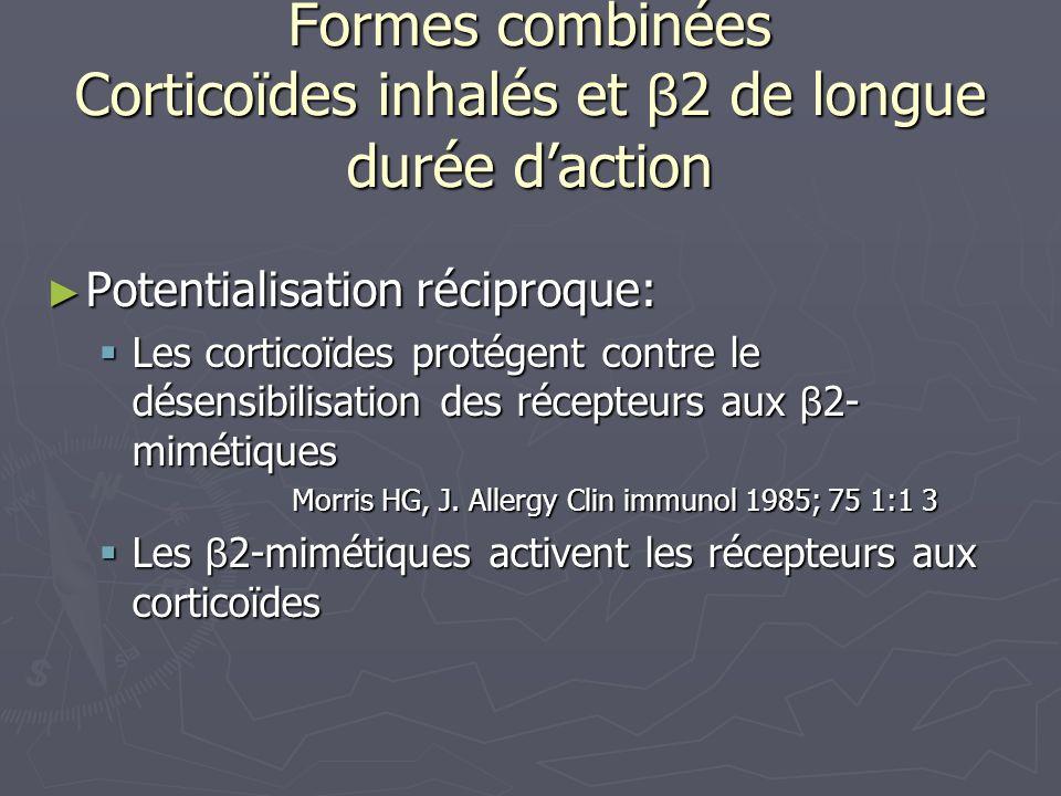 Formes combinées Corticoïdes inhalés et β2 de longue durée d'action