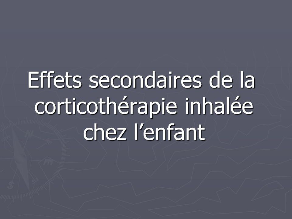Effets secondaires de la corticothérapie inhalée chez l'enfant