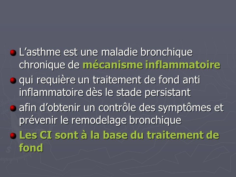 L'asthme est une maladie bronchique chronique de mécanisme inflammatoire