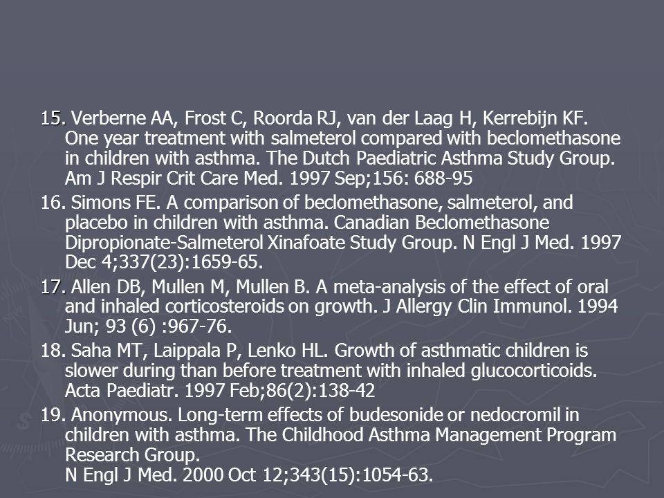 15. Verberne AA, Frost C, Roorda RJ, van der Laag H, Kerrebijn KF