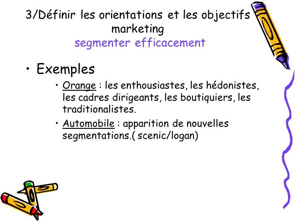 Exemples 3/Définir les orientations et les objectifs